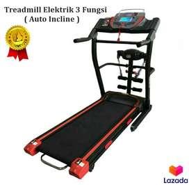 Promo Treadmill Elektrik Autoincline Peralatan Lari