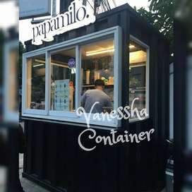 BOOTH CONTAINER CAFE / CONTAINER USAHA / CONTAINER FOOD ANGKRINGAN