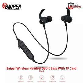 Earphone Stereo Bluetooth Sport SNIPER