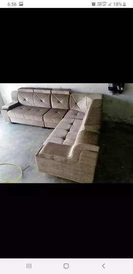Interior designer sofa with L shap