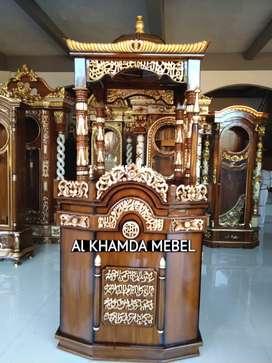 Ready Mimbar Masjid Material Kayu Jati Berkualitas #630