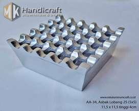 Asbak Aluminium Lobang 25 - Ashtray - Asbak Rokok - Asbak lubang 5x5