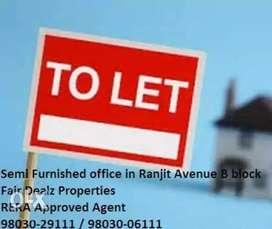 Road facing Mezzanine floor for rent in Ranjit Avenue