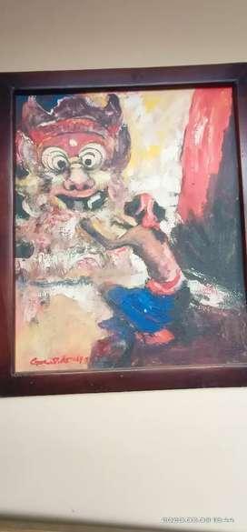 Lukisan tua wanita bali