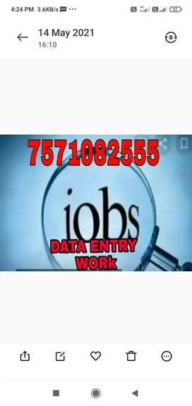 Need freelance data entry operator part time work from home