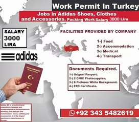 Turky work parmet in adidas shoes, clothes and accessories packing