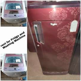 Rent on working condition refrigerator and fully  washing machine