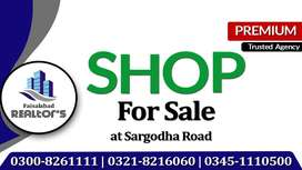 Independent Shop For Sale with Permanent Income on Sargodha Road