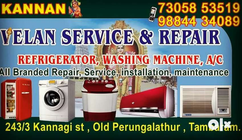 Washing machines refrigerator service and repair