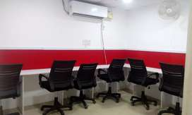1cabin+5sitting fully furnished office space for rent in noida