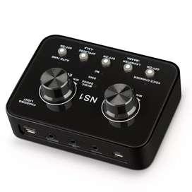 Audio USB External Soundcard Live Broadcast Microphone Headset - NS01