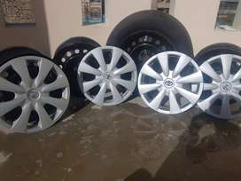 Toyota Corolla 2012 model  weel and 1 tyre good condition