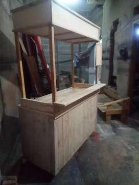 Gerobak booth kayu palet pinus jatibelanda