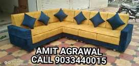 Blue and yellow color beautiful looking sofa set