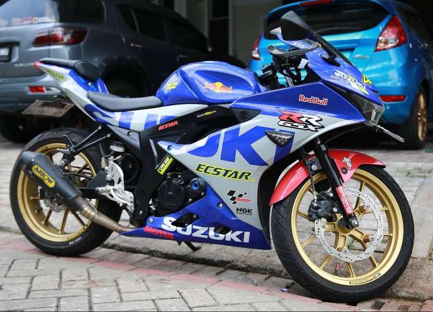Jual Santai Suzuki GSX-R150, Keyless Starter, Biru Metalic, mulus 0