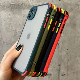 Silicon Shockproof Cover for iPhone 12 Pro Max, 11, 11 Pro, X, XS Max