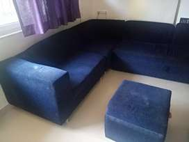 Sofa cum bed 3 seater + 2 seater + 2 seater + 2 storage puffys