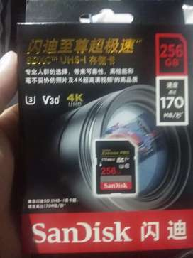New SanDisk Extreme Pro 256 gb only for 4000 negotiable