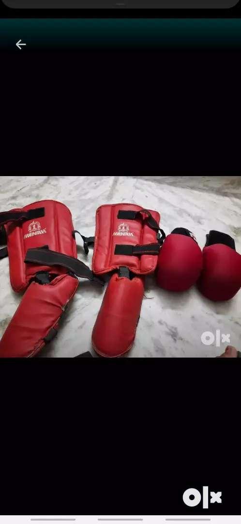 Karate gloves and shinpad 0