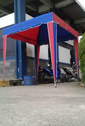 Tenda @ cafe  tenda ready warna hijau polos