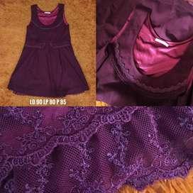 Dress Wakaii Axes Femme Maroon