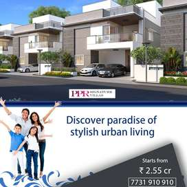 3 BHK Viilas for sale at 2.55 crore