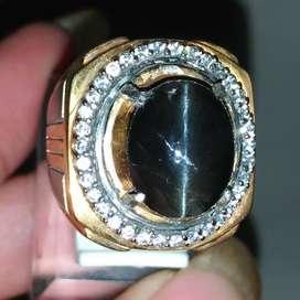Cincin Batu Cat Eye Mata Kucing Hitam Asli Natural Black