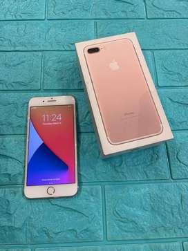 Iphone 7 Plus rose gold 128gb second fulset
