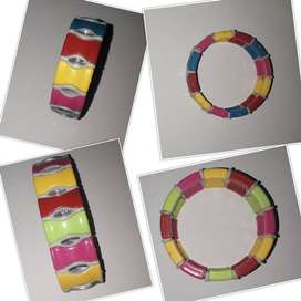 Pack of Small and Large Multi Colored Bracelet for Girls