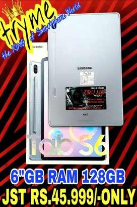 "TRYME 6GB Ram/128Gb SAMSUNG TAB S6 Brand New Condition""s Full Kit Box"