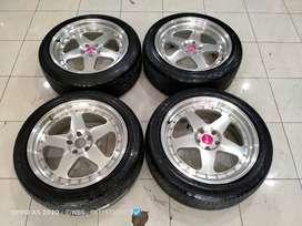 Velg Mobil Ring 20 HSR Joy + Ban cocok Crv Cx5 Vitara Xtrail dll