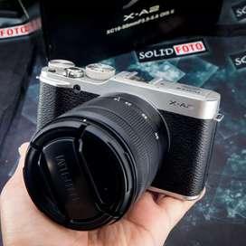 Fuji XA2 kit 16-50mm. Fullset mulus. Murah. Fujifilm