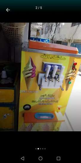 New Ice cream machine 2ton only 3 month use