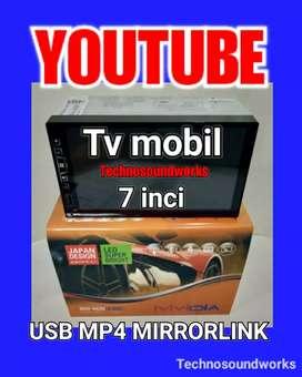 Tv 7 in Layar Datar Fullglass YouTube MP4 double din taoe for sound