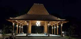 Bangunan Kayu Jati Pendopo Joglo,   Rumah Joglo Ukiran  Gebyok