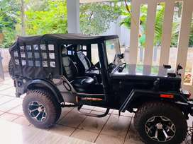 Modified jeep for off road drive