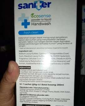 Saniter ecosense powder to liquid Handwash cocok untuk di masa kini