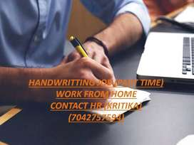 HAND WRITING JOB FROM HOME
