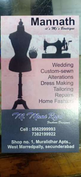 Tailoring and Maggam work at your door step