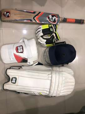 Genuine cricket kit (SSkit& SG bat)