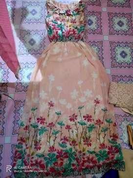 Long Dress bunga bunga