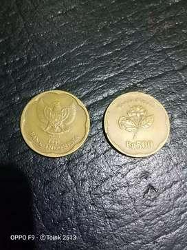 Dijual Uang Koin Rp.500 Tahun 1991 Gambar Melati