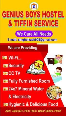 Genius boy's hostel & Mess services.