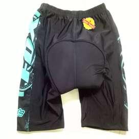 Celana sepeda balap 4/5 celana sepeda ketat padding busa