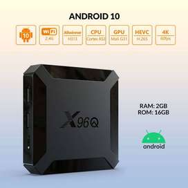 X96Q (2gb_16gb) - OS 10 - 4K - Android Tv Box - 750+ live tv channels