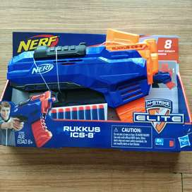 NERF Elite Rukkus ICS 8 Ori Hasbro Original Pistol Mainan Nerf BNIB
