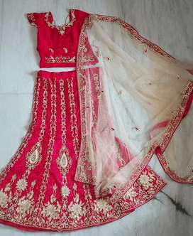 Attractive red color lehenga