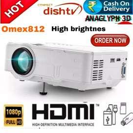 LOW PRICE BEST HOME CINEMA OMEX812 FHD PROJECTOR USB SD HDMI VGA AV T