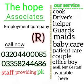 Maid cook chef baby care driver helper service available
