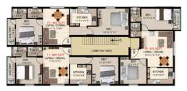 New 2bhk flat for sale at pammal, voc nagar